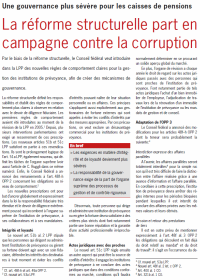 La réforme structurelle part en campagne contre la corruption