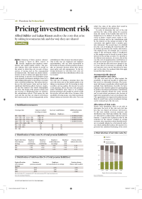Pricing investment risk