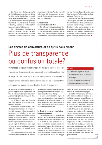 Plus de transparence ou confusion totale?