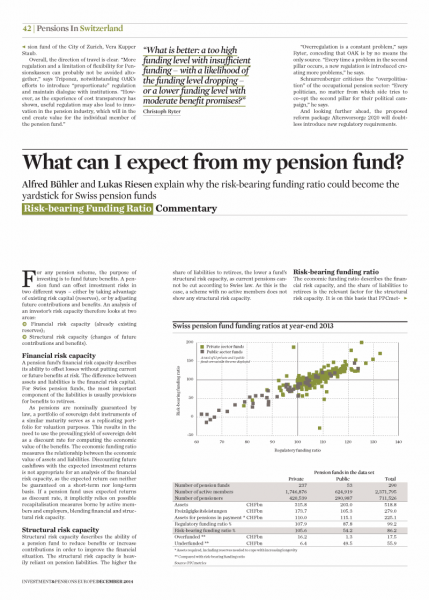 What can I expect from my pension fund?