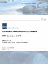 Home Bias – Swiss Pension Fund Experience