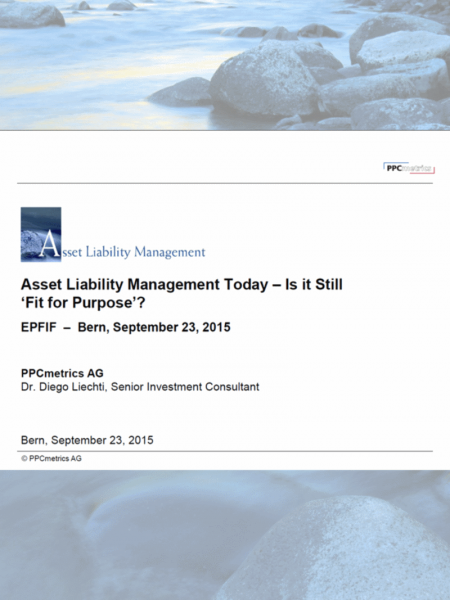 Asset Liability Management Today – Is it Still Fit for Purpose?