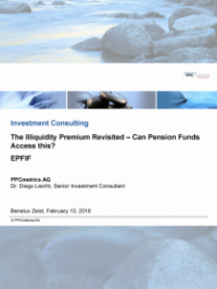 The Illiquidity Premium Revisited – Can Pension Funds Access this?