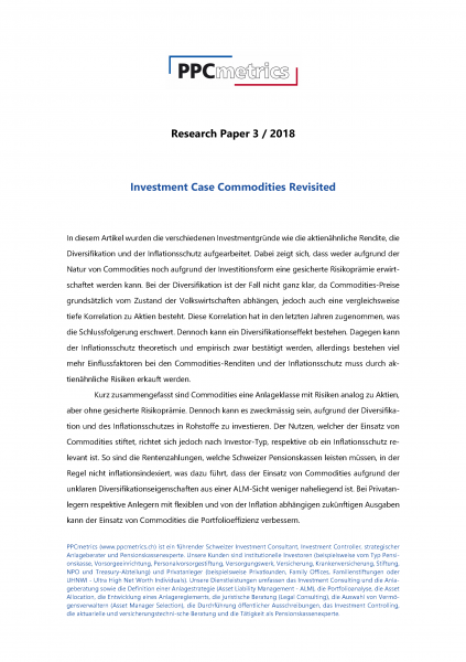 Investment Case Commodities Revisited