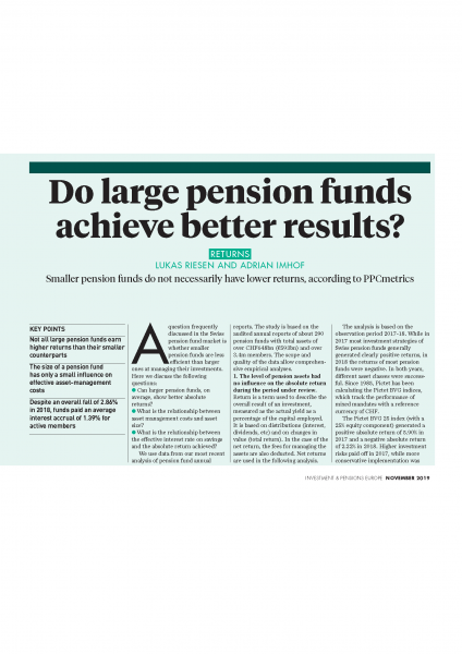 Do large pension funds achieve better results?