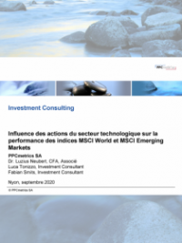 Influence des actions du secteur technologique sur la performance des indices MSCI World et MSCI Emerging Markets