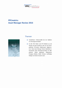 PPCmetrics Asset Manager Review 2016 - CHF Edition